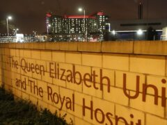 The health board has been unable to trace the family of a child who's death has been linked to infected water at the Queen Elizabeth University Hospital campus in Glasgow (Andrew Milligan/PA)
