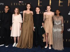 (l to r) Maddox Jolie-Pitt, Vivienne Jolie-Pitt, Angelina Jolie, Knox Jolie-Pitt, Shiloh Jolie-Pitt, and Zahara Jolie-Pitt (Jordan Strauss/Invision/AP/PA)