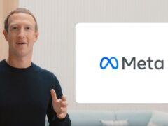 Mark Zuckerberg announces his new company brand, Meta (Meta/PA)