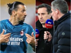 Zlatan Ibrahimovic took off and Gary Neville and Jamie Carragher clashed (Niall Carson/Peter Byrne/PA)