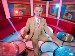 BBC weatherman Owain Wyn Evans will tackle a 24-hour drumming challenge for Children In Need (Children In Need/PA)