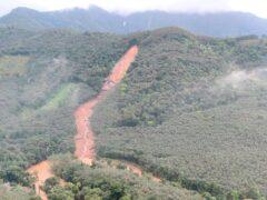 Heavy rain triggered landslides in Kottayam district, southern Kerala (Indian Navy/AP)