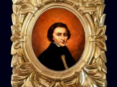 The restored portrait of Polish composer Frederic Chopin (AP)