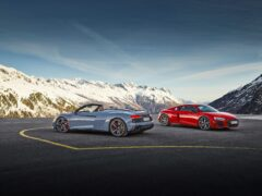 The RWD is available in both coupe and Spyder versions