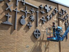 The crosses took three weeks to install ( Church of Scotland/Michael Visocchi/PA)