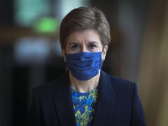 First Minister Nicola Sturgeon has apologised for problems people have had with the Covid-19 vaccine certification app (Fraser Bremner/Scottish Daily Mail/PA)