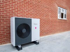 A heat pump at an installation test site for Octopus Energy (Octopus Energy/PA)