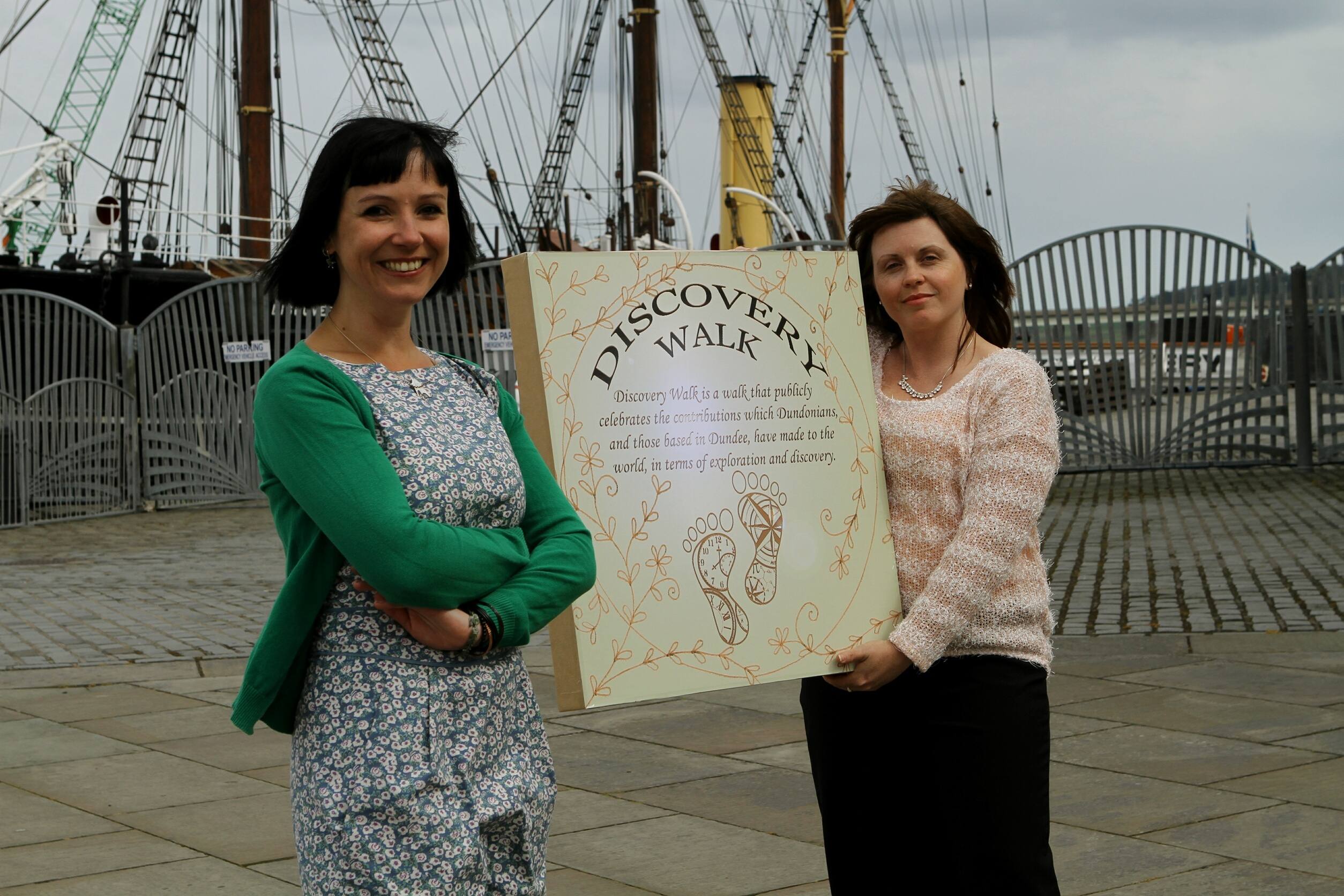 Suzanne Scott and Kelly Marr, brainchild of the Discovery Walk project at the launch in April.