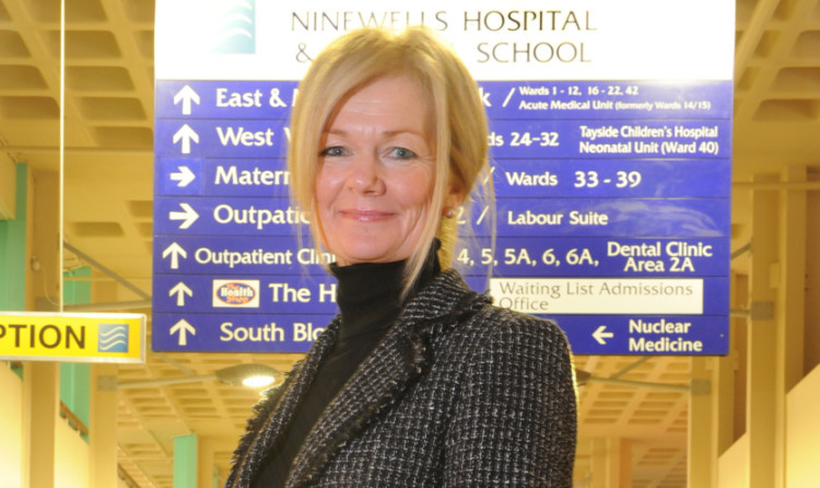 Former NHS Tayside chief Lesley McLay.