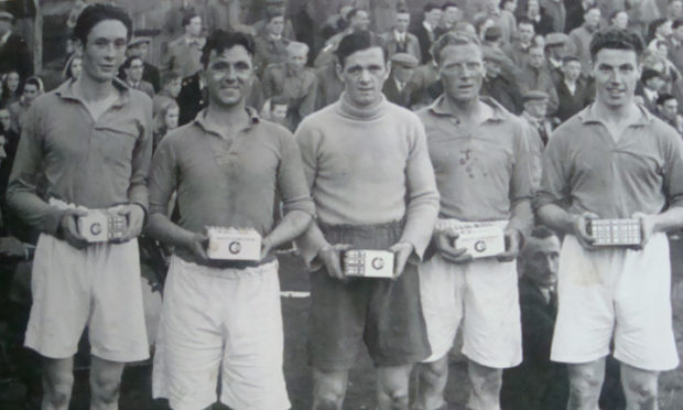 North End Fives team from the late 1940s/early 1950s.