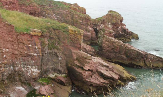 The cliffs near Arbroath