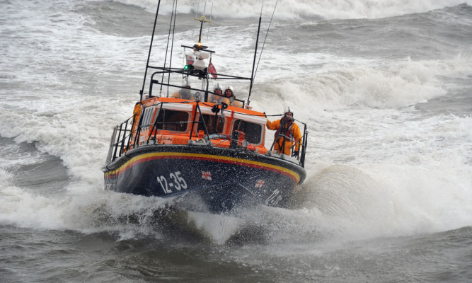 The Arbroath lifeboat has been grounded  pending the investigation