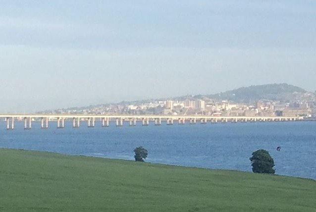 A haar sits over Dundee this morning. Picture by KitschnBake