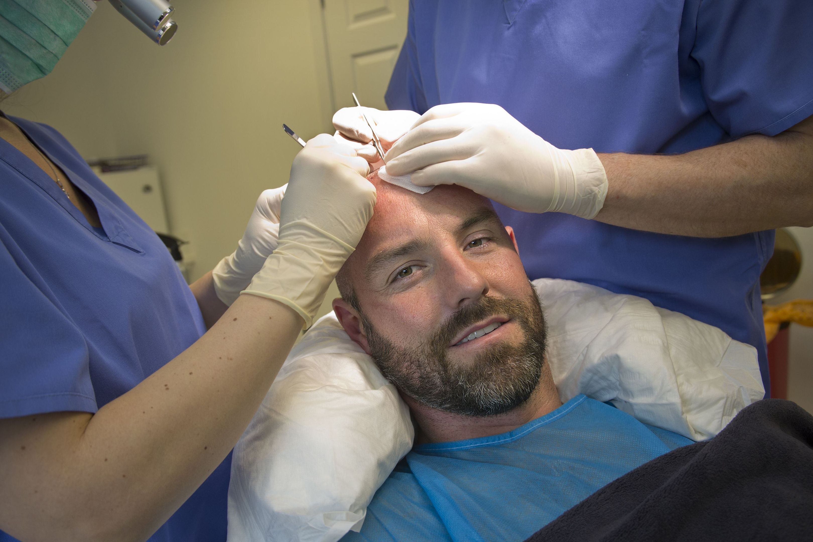 Premiership striker Kris Boyd, who has become the latest in a line of footballers including Wayne Rooney and James McFadden to have a hair transplant.
