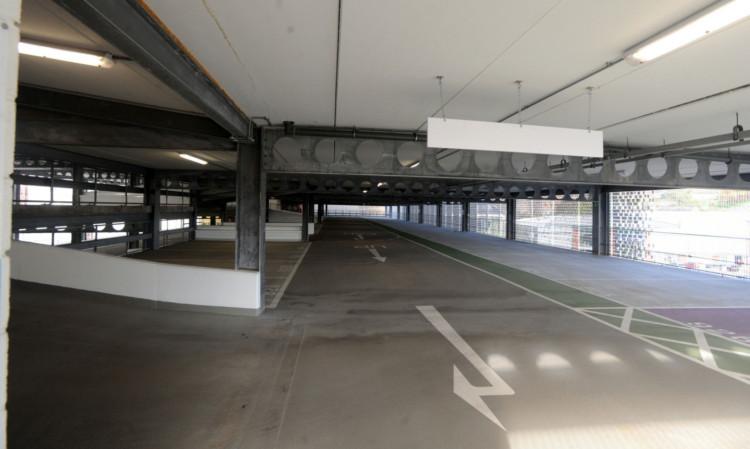 The Olympia car park.