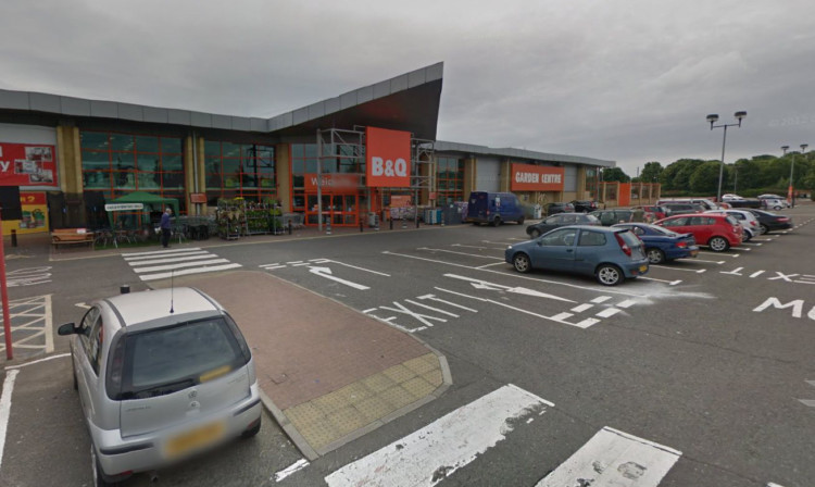 The B&Q store on Kings Cross Road, Dundee.