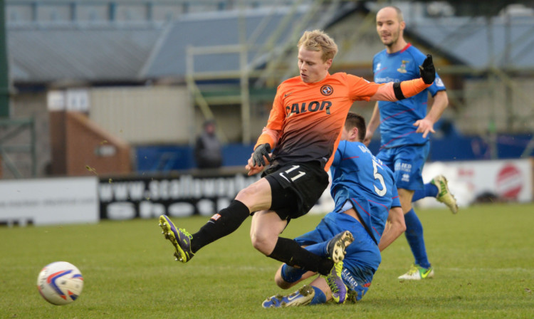 Gary Mackay-Steven in his Dundee United days.
