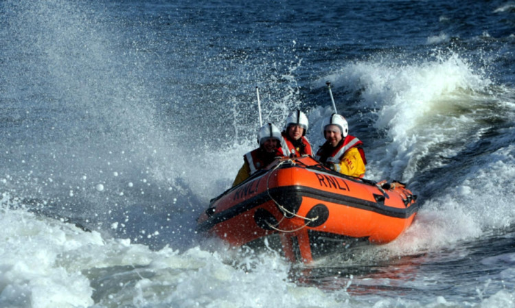 The Broughty Ferry lifeboat crew was dispatched