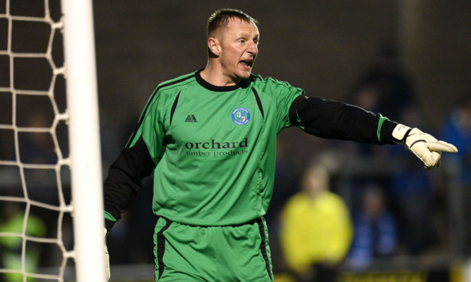 Forfar's former Dundee, Celtic and Scotland keeper Rab Douglas.