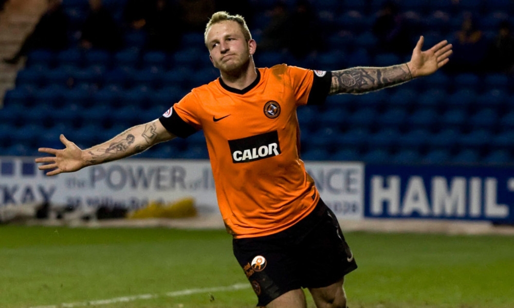 Johnny Russell in action for Dundee United