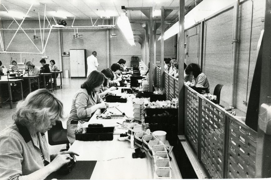Workers at the Timex factory, Dundee