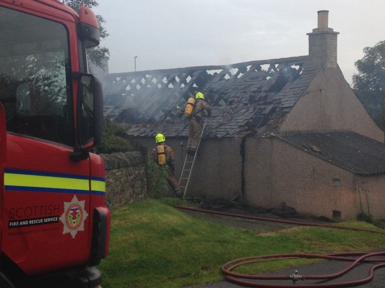A blaze in Letham earlier this month.