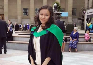 Madison at her graduation