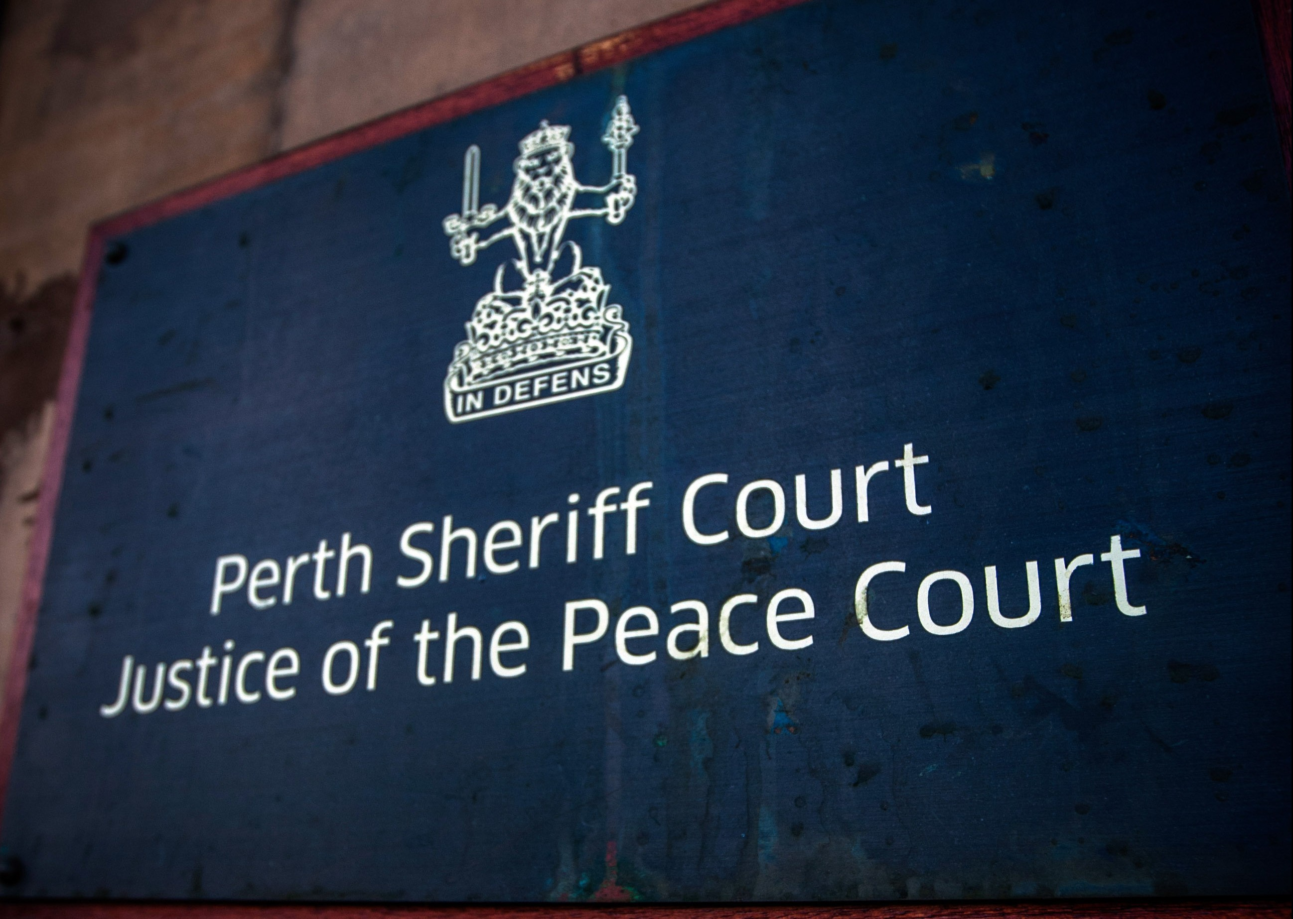 Florin Ciovica was photographed by a member of staff getting behind the wheel after leaving the Perth Sheriff Court car park.