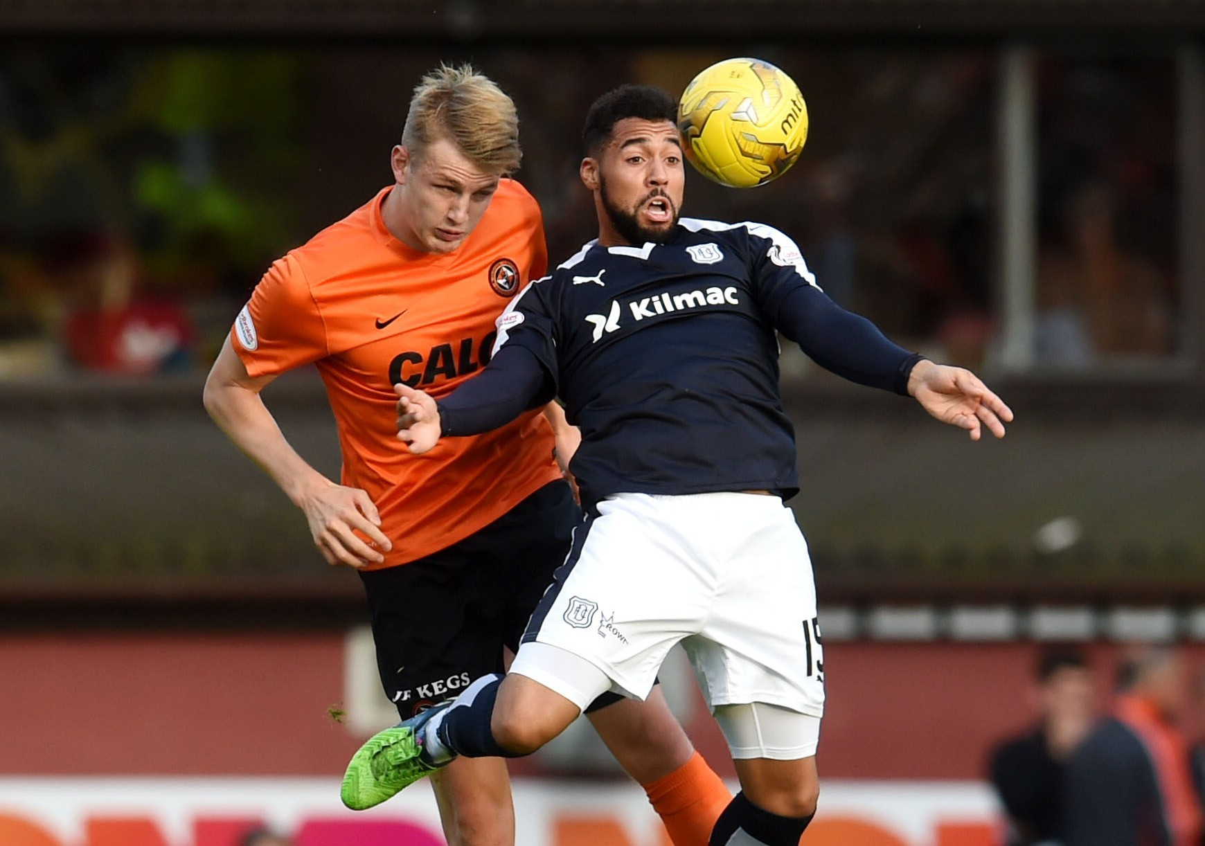Both Coll Donaldson and Kane Hemmings, seen tussling for the ball here, could bring a change to their respective teams.