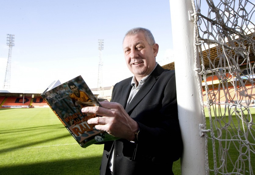 Ralph with his book 'What's it all about Ralphie'
