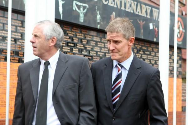 Gordon Robbie Evening Telegraph Ralph Milne funeral David narey and Richard Gough