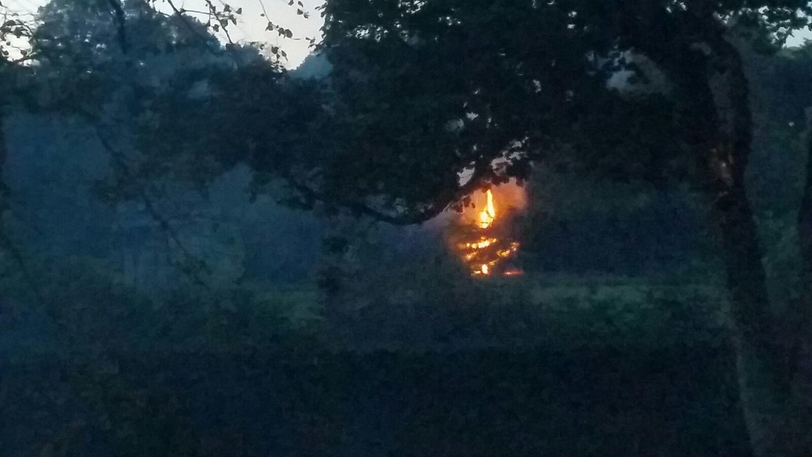 The blaze at Baxter Park from a distance