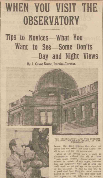 A newspaper cutting of the opening