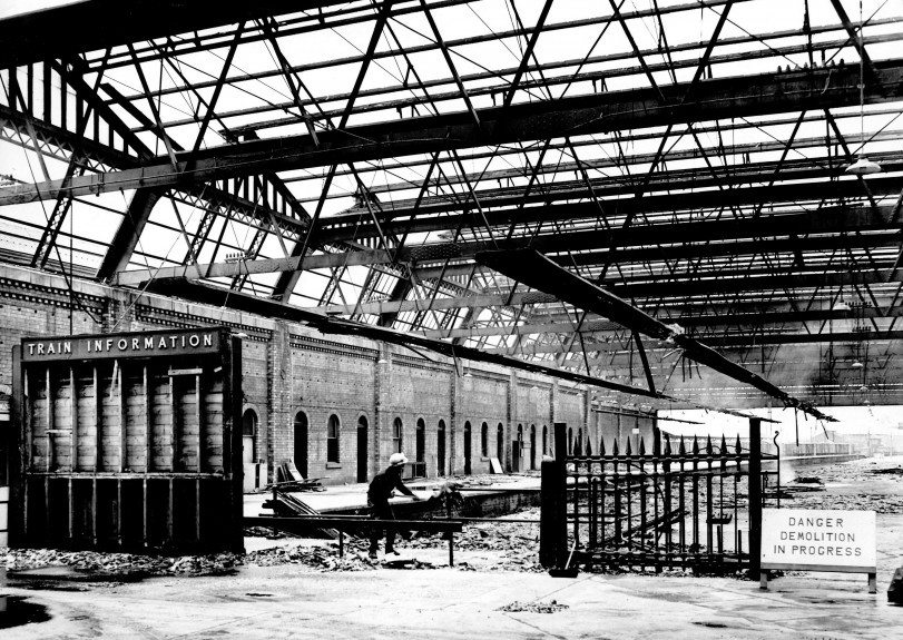 The station's demolition in 1965