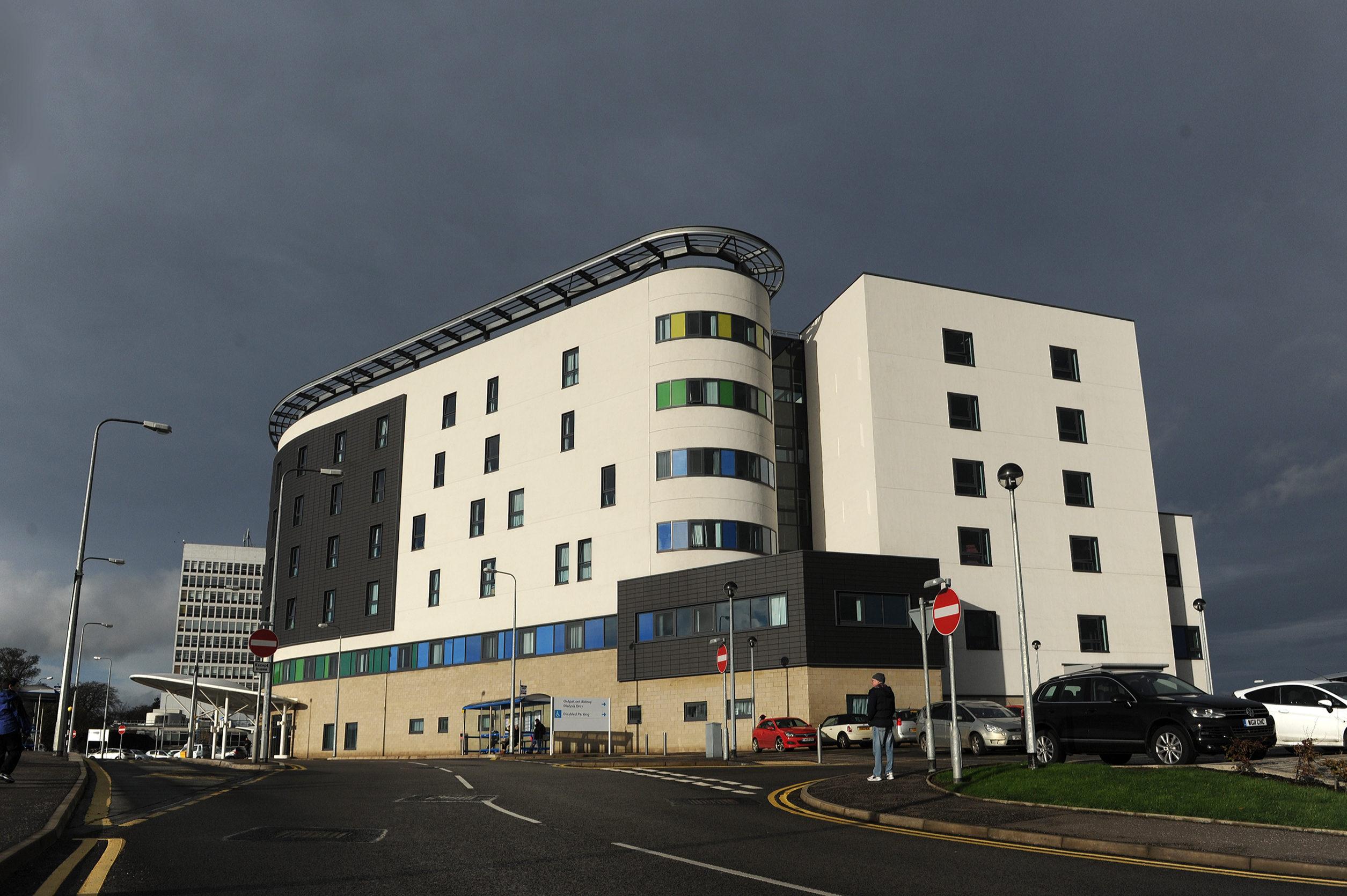 The Victoria Hospital in Kirkcaldy