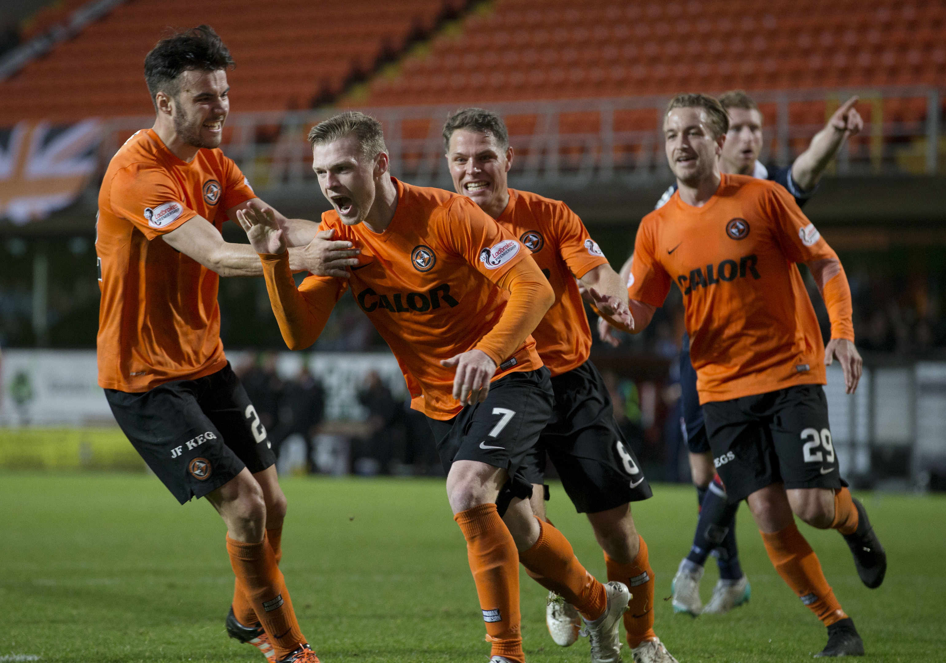 Relief for Billy Mckay and his Dundee United teammates.