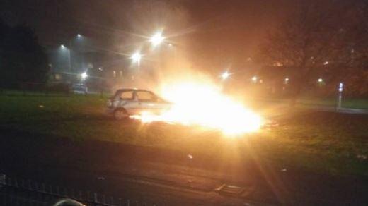 The blaze in Balgowan Avenue