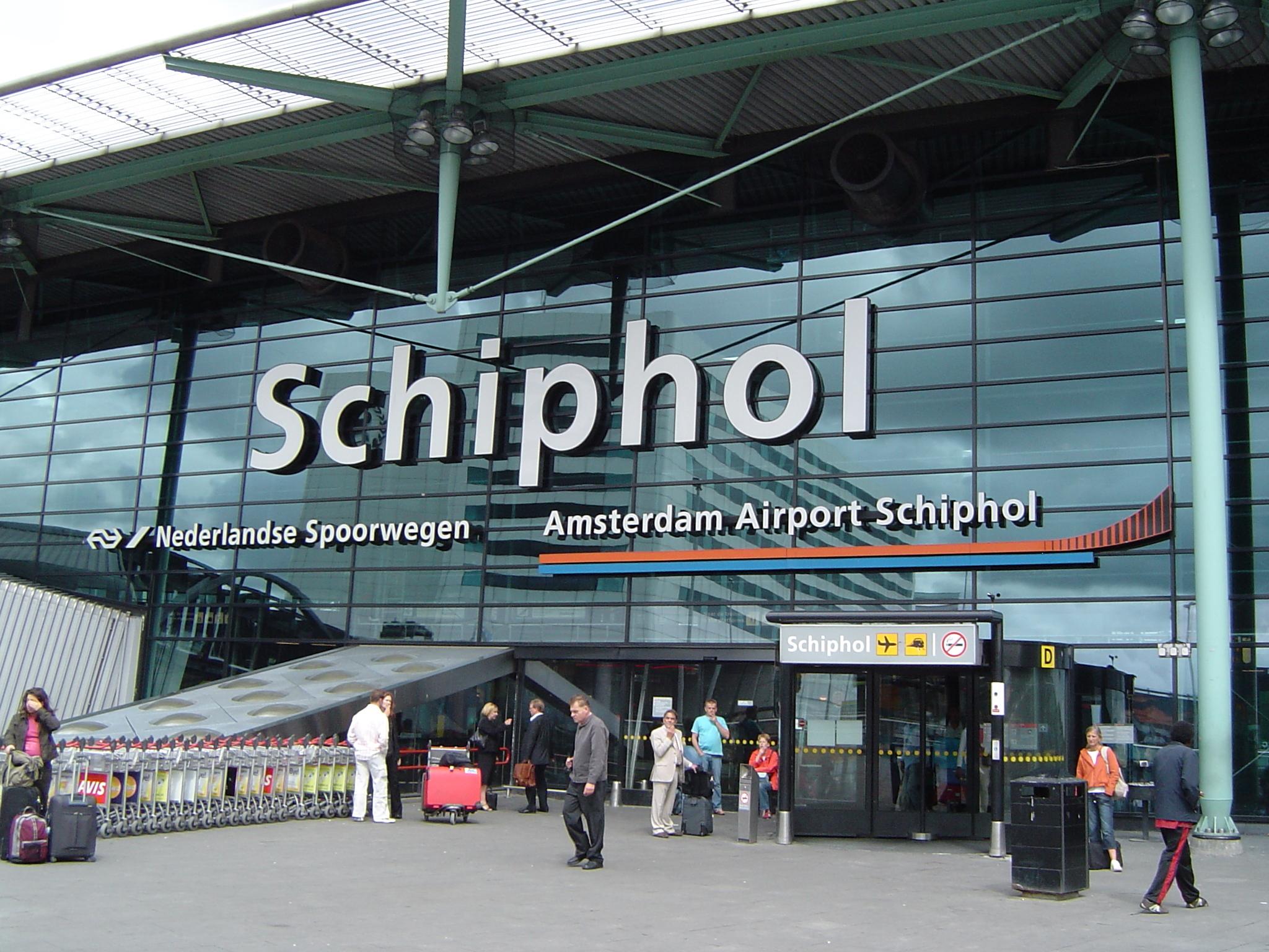 Schiphol Airport.