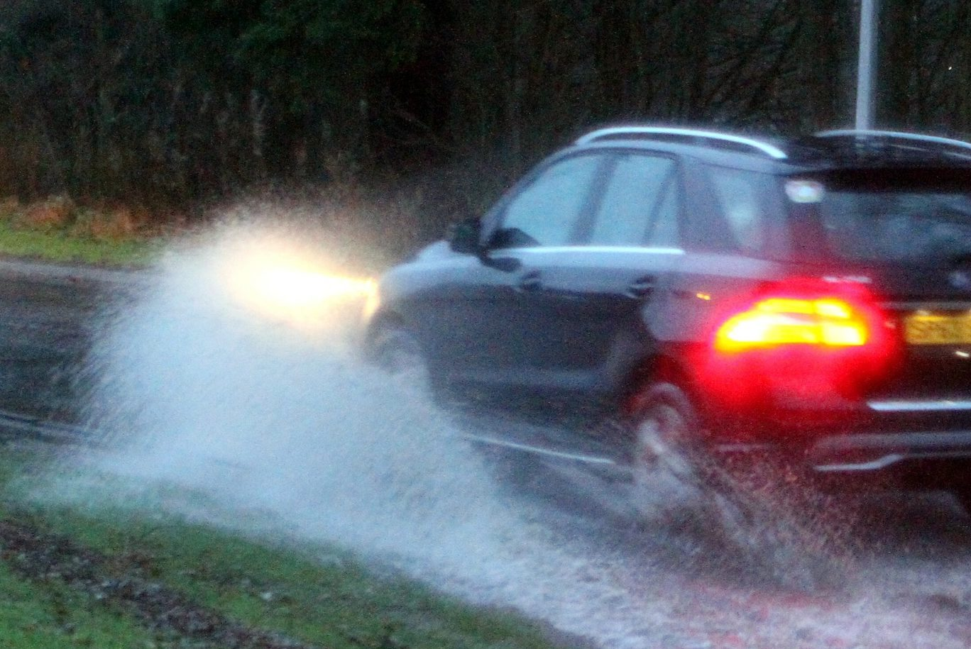 Many Tayside roads were affected by large amounts of surface water.