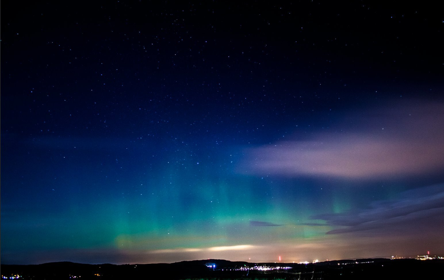 Russell Hope's picture of the Northern Lights from December 2015