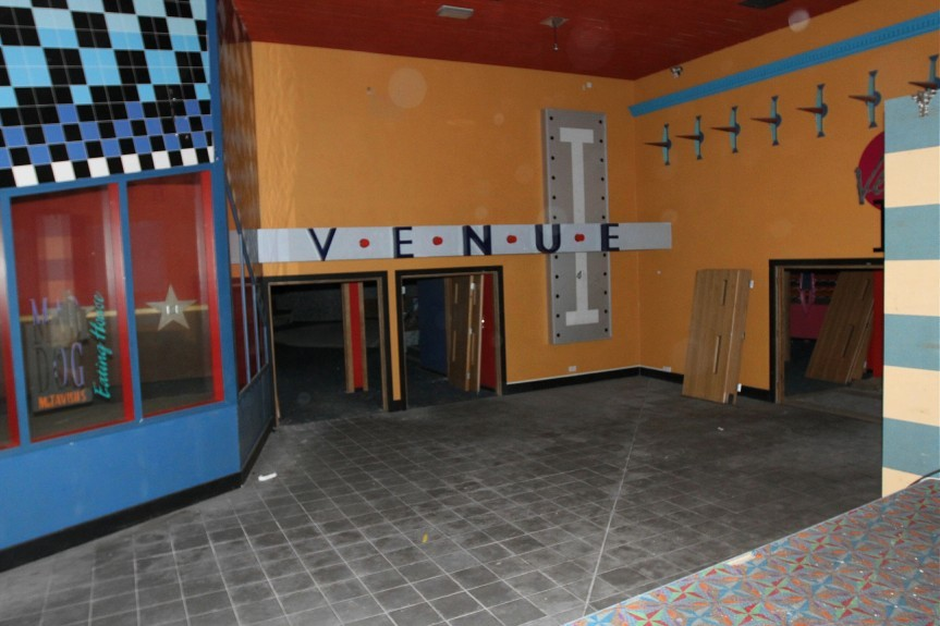 Inside the old Venue nightclub at the Stack Leisure Park in Dundee. This image was taken last year, but the Venue has long since closed.