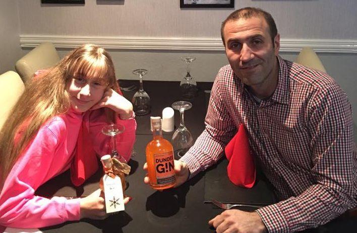 Patric Lochi with his daughter Ava