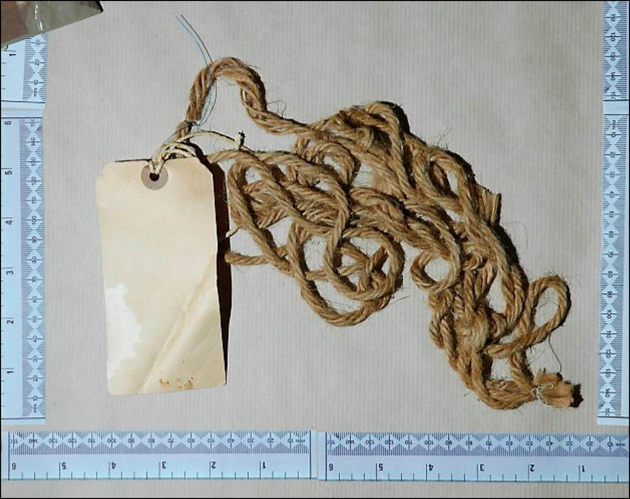 Rope used to tie up the woman's body was made in Dundee.