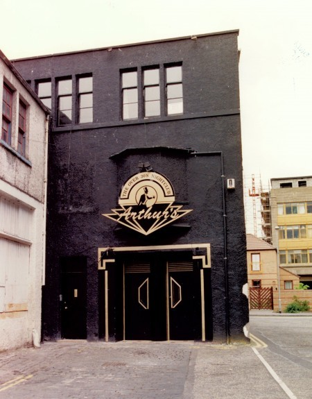 The entrance to Arthur's over-30s nightclub off the Seagate in 1993.