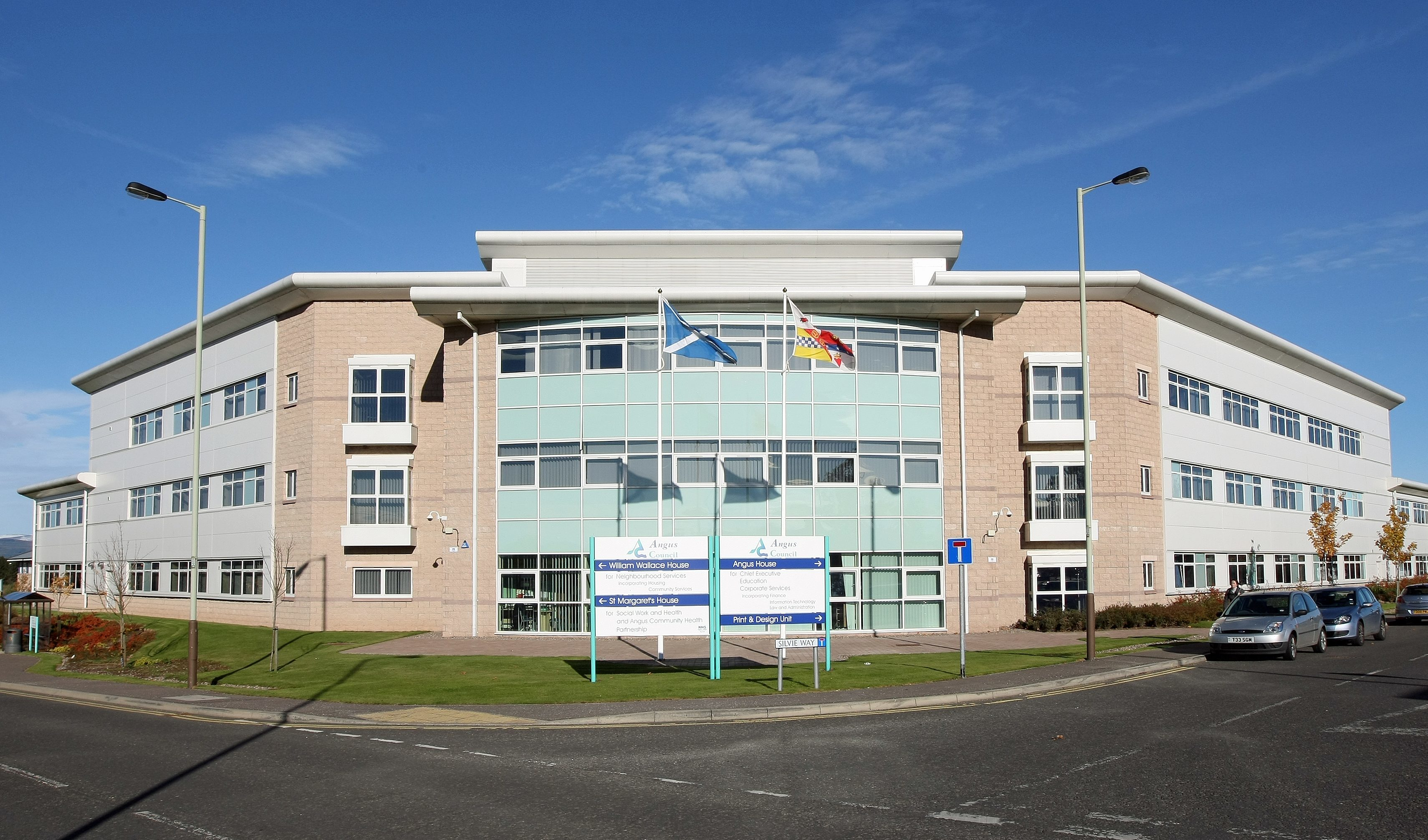 The council's headquarters in Forfar