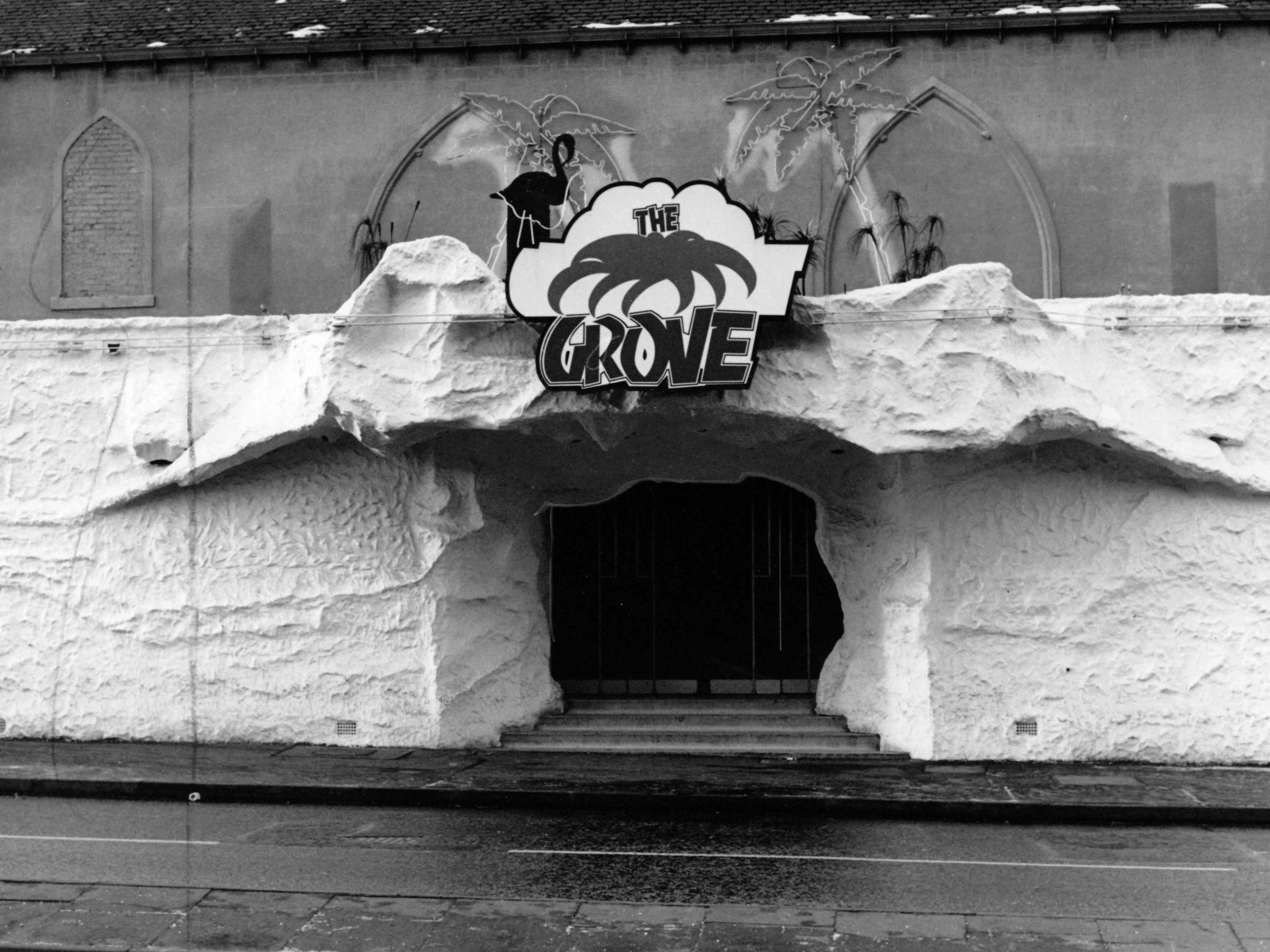 The entrance to The Grove (aka The Coconut Grove)  in 1989. The building once stood where the casino is now, for those a bit younger.