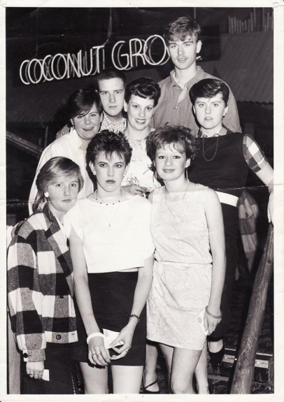 This image from Tele reader Brian Mill shows a him with a group of palls at the Grove in the 80s.