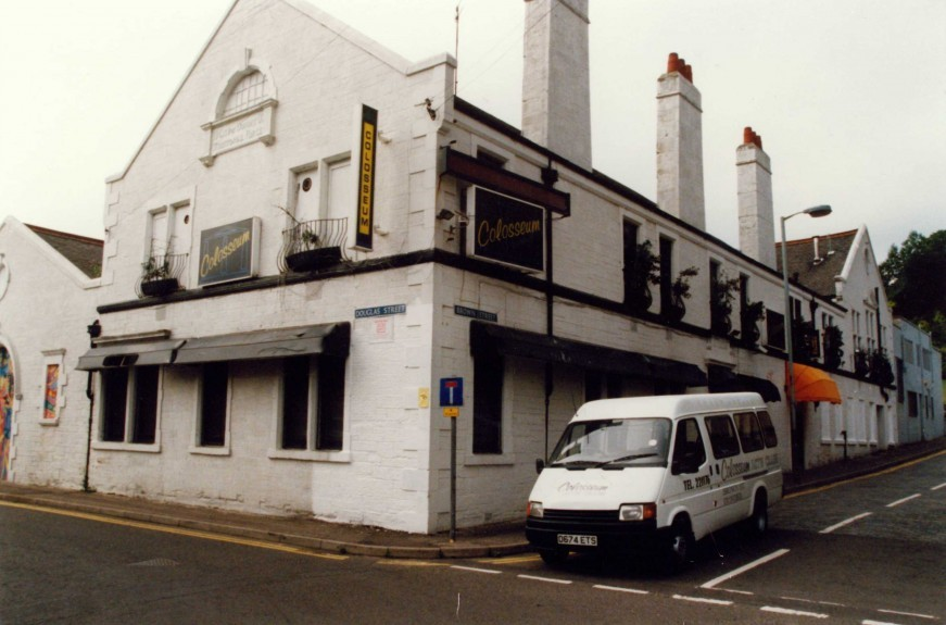 The outside of the Colosseum nightclub on the junction of Douglas Street and Brown Street.