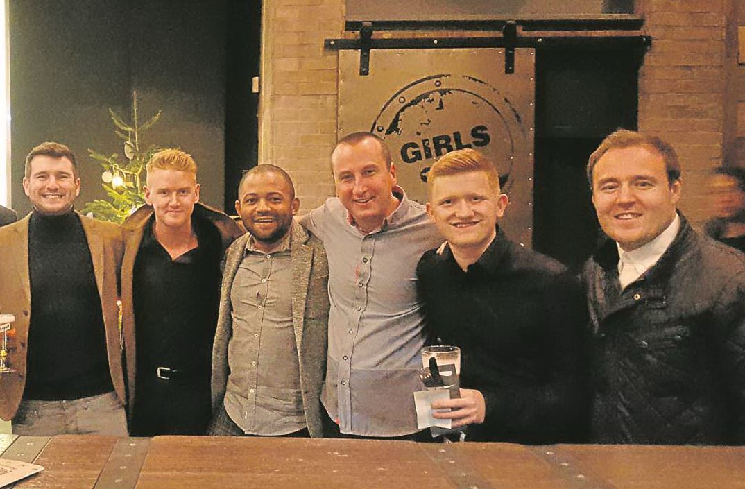 Scriptwriter Ben Tagoe with some of the cast of Coronation Street.