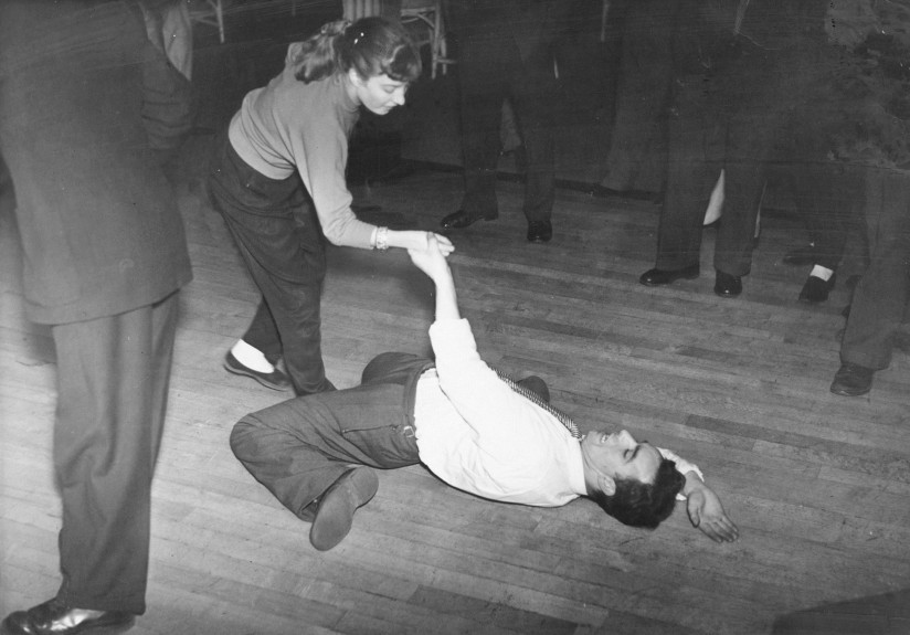 Two rock'n'rollers get their groove on at Dundee's Empress Ballroom in 1956.